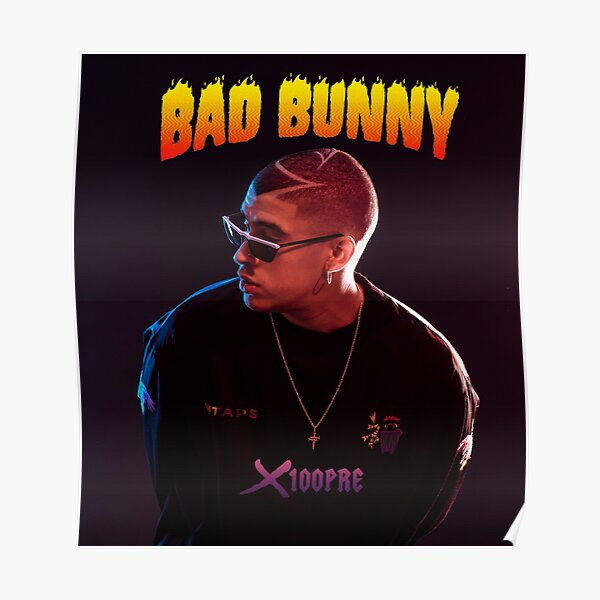 x100 pre bad bunny tour 2019 bedakan Poster RB3107 product Offical Bad Bunny Merch