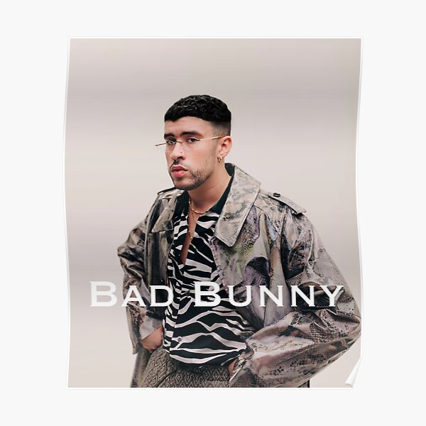 Bad bunny T-shirt, bad bunny fan & gear Poster RB3107 product Offical Bad Bunny Merch