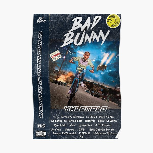 YHLQMDLG  Poster RB3107 product Offical Bad Bunny Merch
