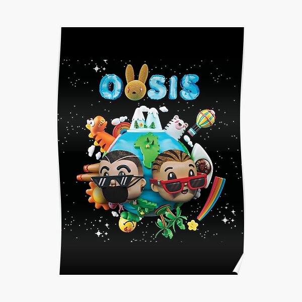 OASIS of J Balvin and Bad Bunny Poster RB3107 product Offical Bad Bunny Merch