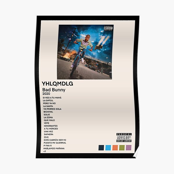 BAD BUNNY YHLQMDLG Poster RB3107 product Offical Bad Bunny Merch