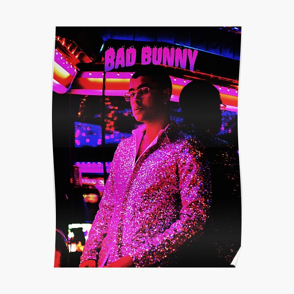 style bad bunny tour 2019 bedakan Poster RB3107 product Offical Bad Bunny Merch