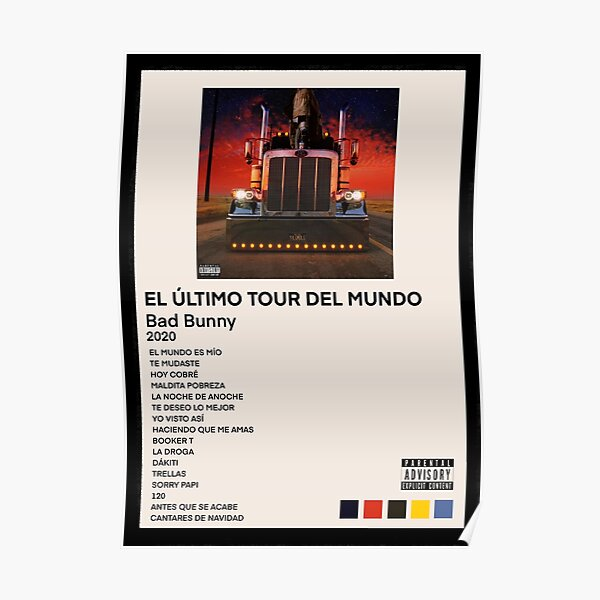 BAD BUNNY EL ULTIMO TOUR DEL MUNDO Poster RB3107 product Offical Bad Bunny Merch