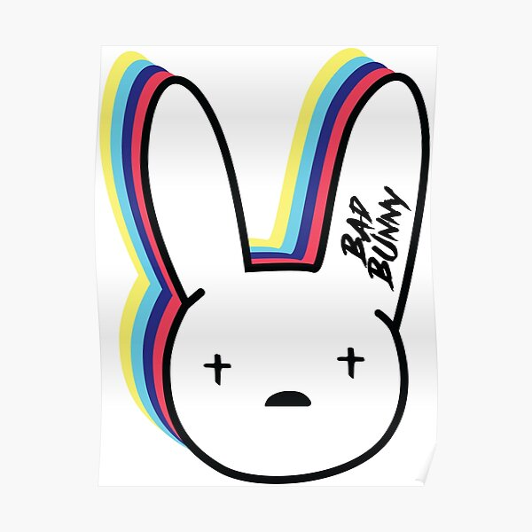 Bad Bunny Logo Poster RB3107 product Offical Bad Bunny Merch