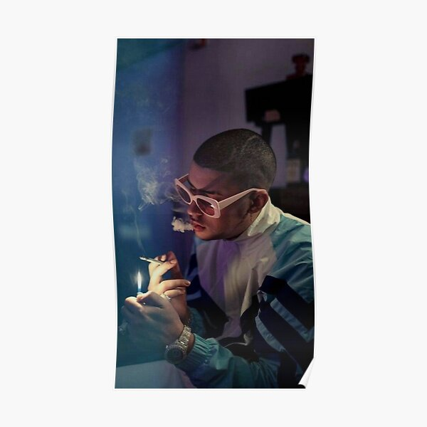 Bad Bunny Smoking Poster RB3107 product Offical Bad Bunny Merch