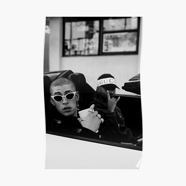 Bad bunny car Poster RB3107 product Offical Bad Bunny Merch