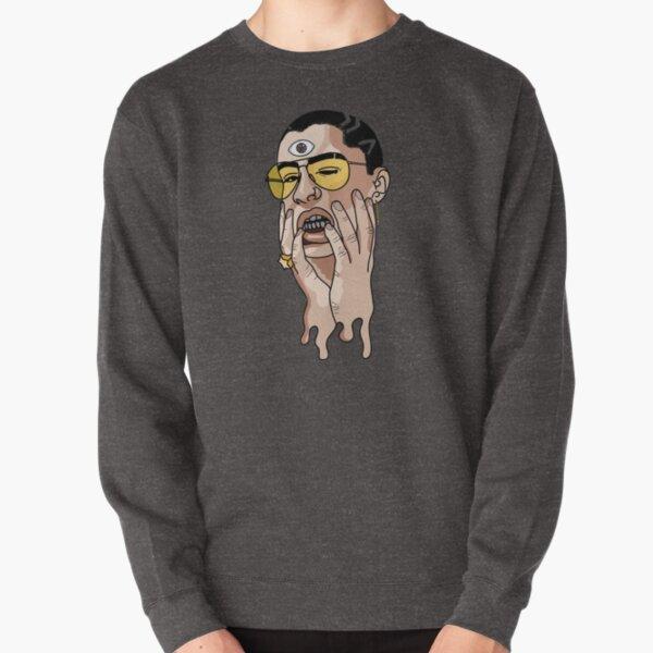 Tú no ves que yo soy caro? Bad Bunny Sticker Pullover Sweatshirt RB3107 product Offical Bad Bunny Merch