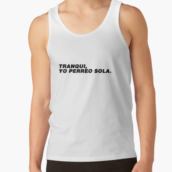 Bad Bunny - Perreo Tank Top RB3107 product Offical Bad Bunny Merch