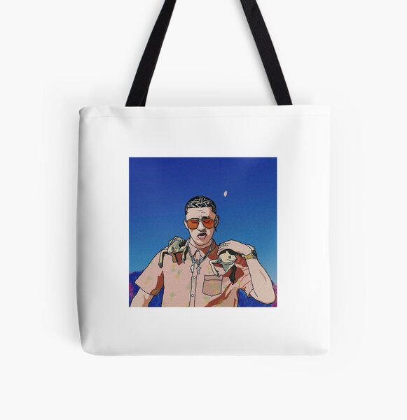 Bad Bunny Drawing All Over Print Tote Bag RB3107 product Offical Bad Bunny Merch