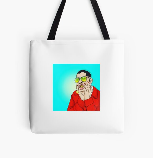 Bad Bunny Cartoon All Over Print Tote Bag RB3107 product Offical Bad Bunny Merch