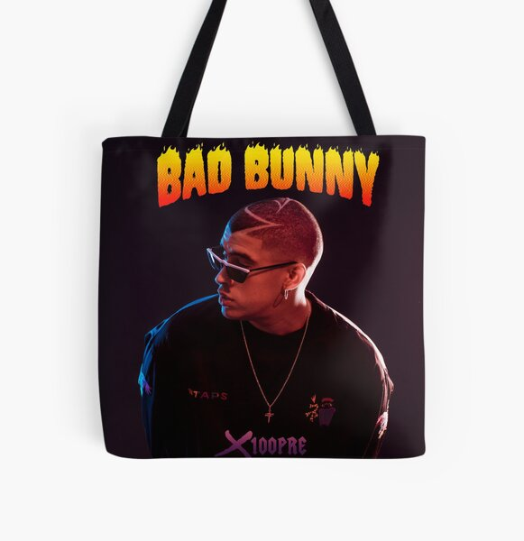 x100 pre bad bunny tour 2019 bedakan All Over Print Tote Bag RB3107 product Offical Bad Bunny Merch