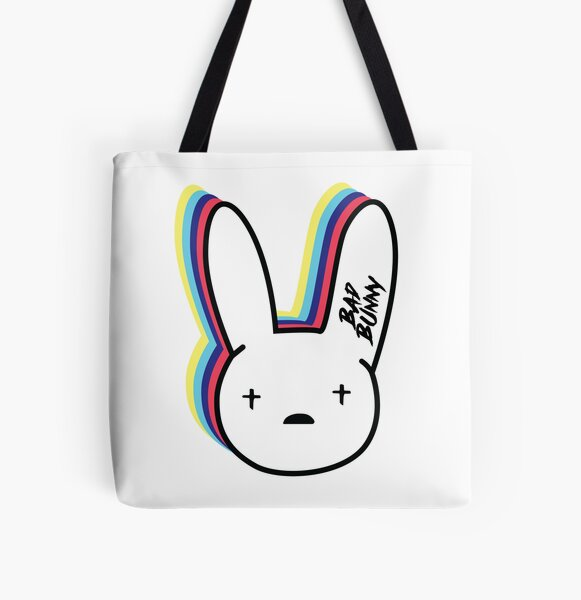 Bad Bunny Logo All Over Print Tote Bag RB3107 product Offical Bad Bunny Merch