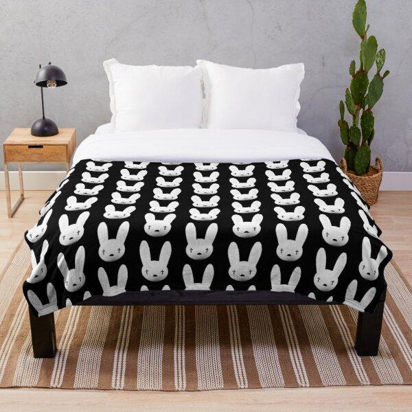 bad bunny logo oasis tour 2019 2020 budiyanto Throw Blanket RB3107 product Offical Bad Bunny Merch