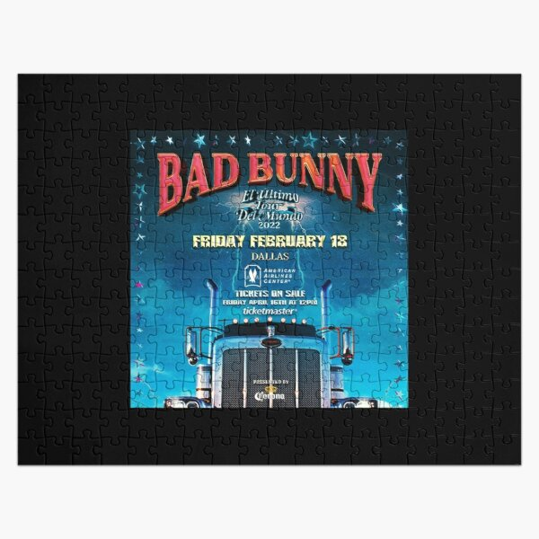 bad bunny ticket Jigsaw Puzzle RB3107 product Offical Bad Bunny Merch