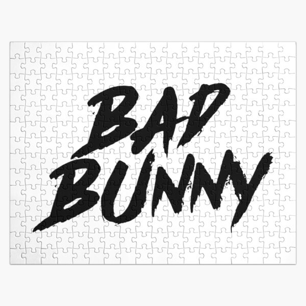 bad bunny font Jigsaw Puzzle RB3107 product Offical Bad Bunny Merch