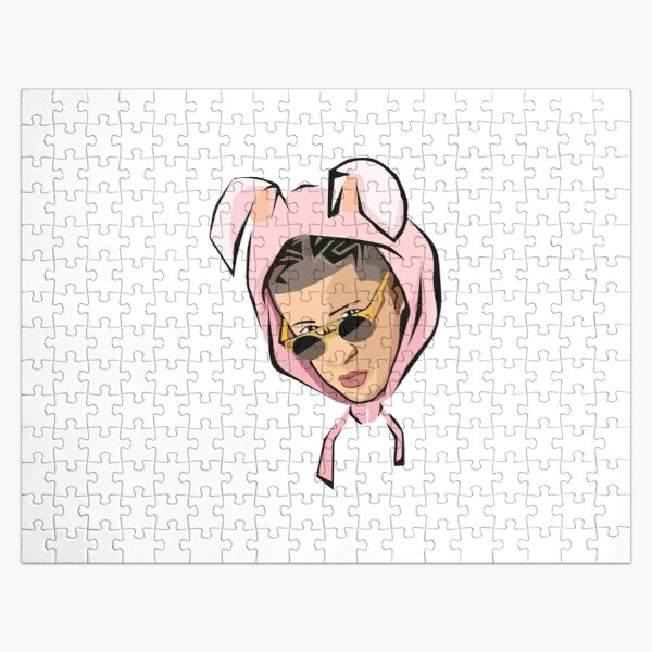 Best Selling - Bad Bunny Face Merchandise Jigsaw Puzzle RB3107 product Offical Bad Bunny Merch
