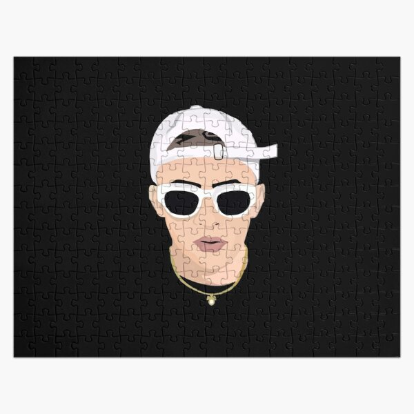 BEST SELLER - Bad Bunny face Merchandise Jigsaw Puzzle RB3107 product Offical Bad Bunny Merch