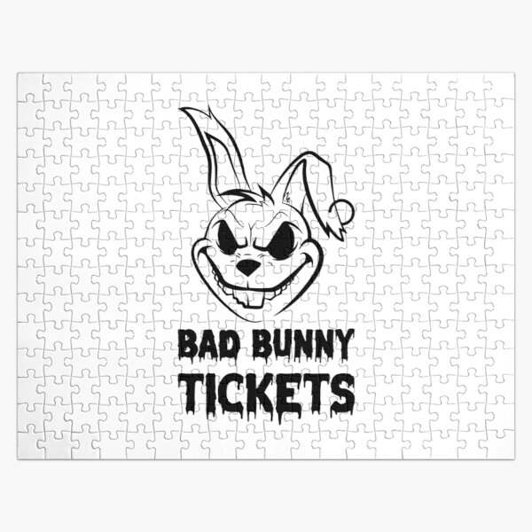 bad bunny tickets Jigsaw Puzzle RB3107 product Offical Bad Bunny Merch