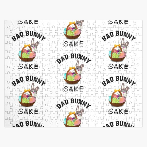 Bad Bunny Cake Jigsaw Puzzle RB3107 product Offical Bad Bunny Merch