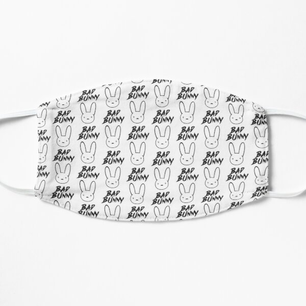 Bad Bunny Logo Flat Mask RB3107 product Offical Bad Bunny Merch