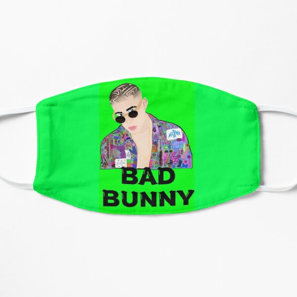 Bad Bunny bebe, el Conejo Malo arte, gift for loved ones Flat Mask RB3107 product Offical Bad Bunny Merch
