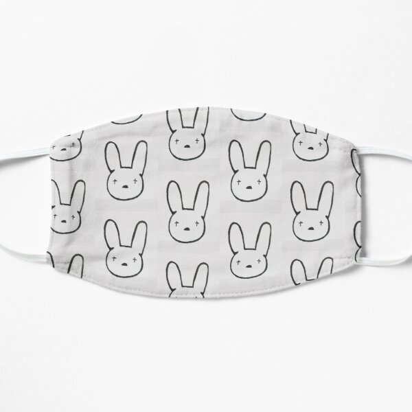 Bad Bunny Flat Mask RB3107 product Offical Bad Bunny Merch