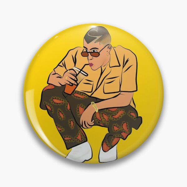 Bad Bunny fan art , conejo malo arte, gift,  Pin RB3107 product Offical Bad Bunny Merch