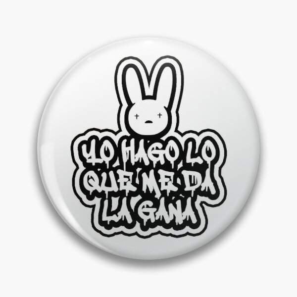 YHLQMDLG Pin RB3107 product Offical Bad Bunny Merch
