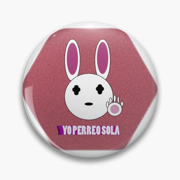 Bad Bunny '' Yo Perreo Sola'' FanArt Pin RB3107 product Offical Bad Bunny Merch