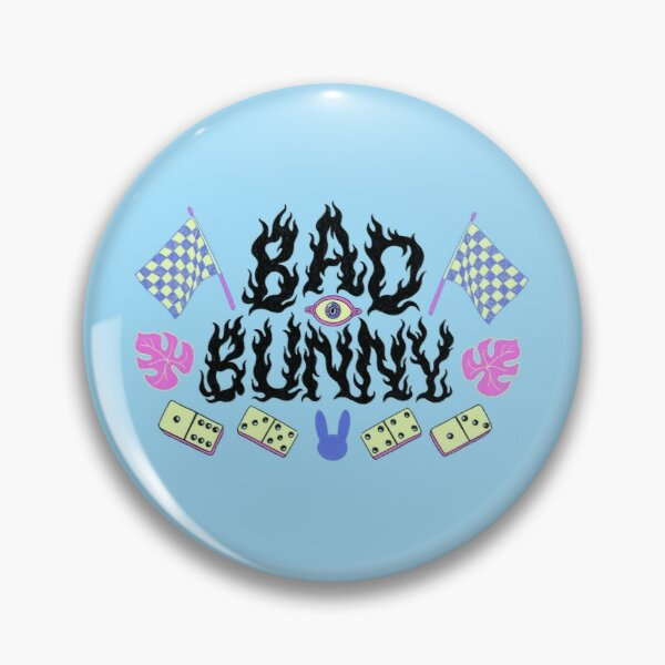 Bad Bunny Dominos Pin RB3107 product Offical Bad Bunny Merch