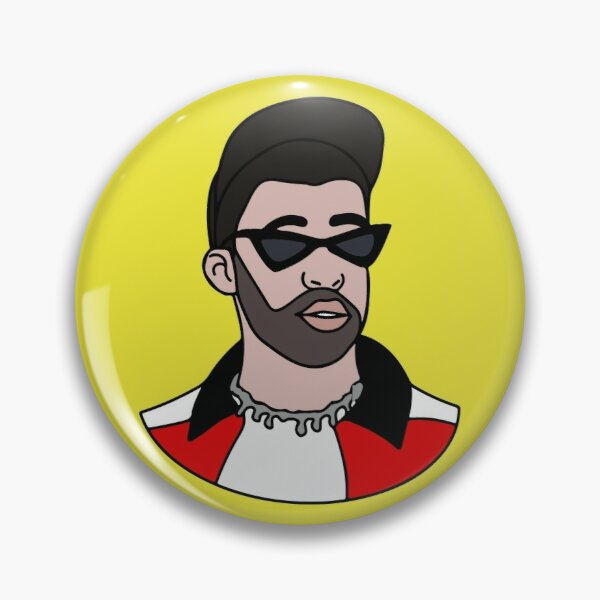 Bad Bunny Pin RB3107 product Offical Bad Bunny Merch