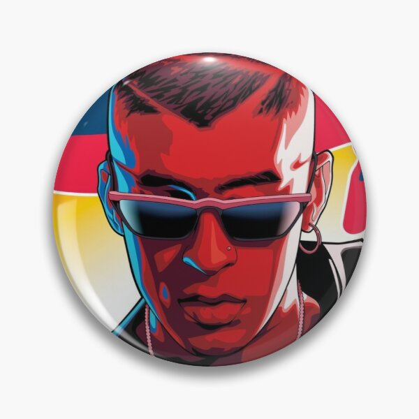 Bad Bunny Painting Pin RB3107 product Offical Bad Bunny Merch