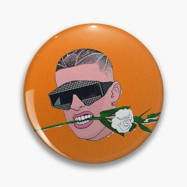Bad Bunny Rose Pin RB3107 product Offical Bad Bunny Merch
