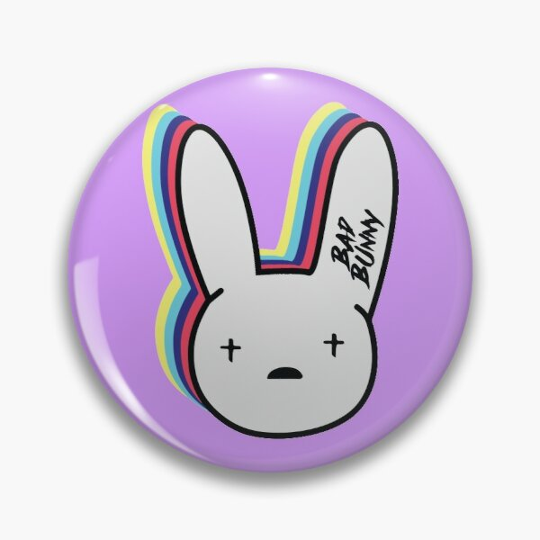 Bad Bunny Logo Pin RB3107 product Offical Bad Bunny Merch