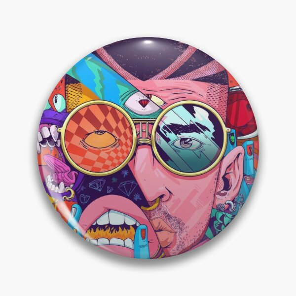 Bad Bunny Design Pin RB3107 product Offical Bad Bunny Merch
