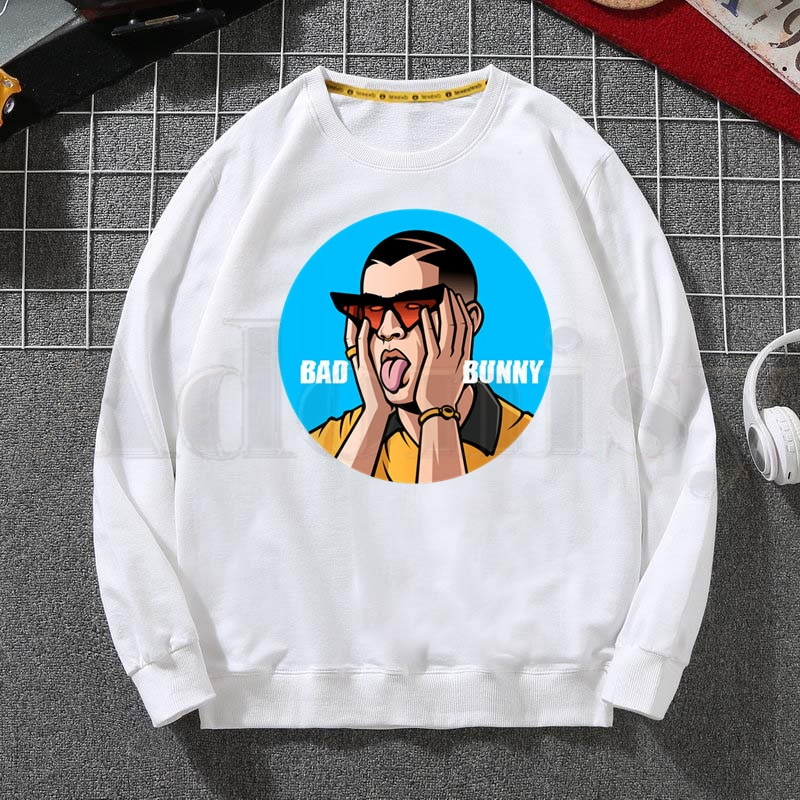 bad bunny face hoodie bbm0108 5976 - Bad Bunny Store