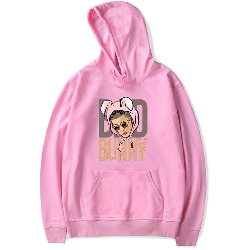 bad bunny face printed hoodie bbm0108 3005 - Bad Bunny Store