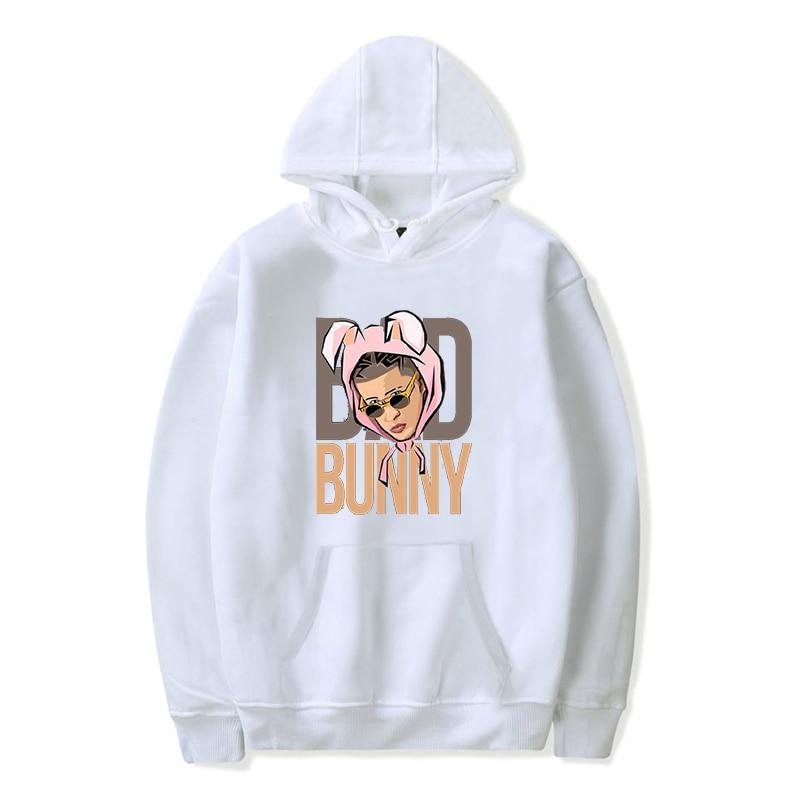 bad bunny face printed hoodie bbm0108 6465 - Bad Bunny Store