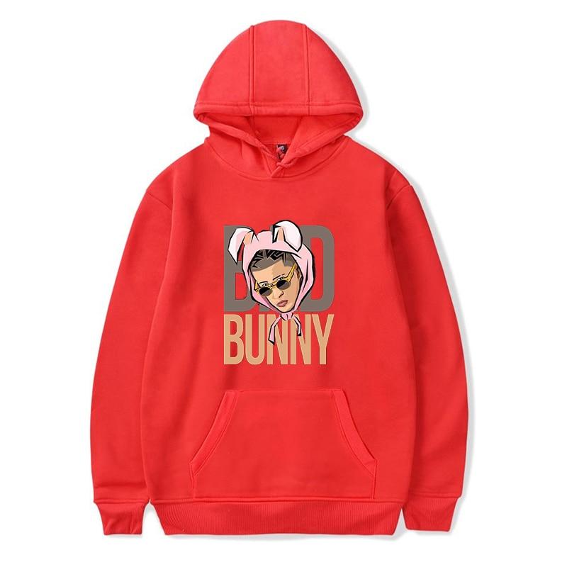 bad bunny face printed hoodie bbm0108 8953 - Bad Bunny Store