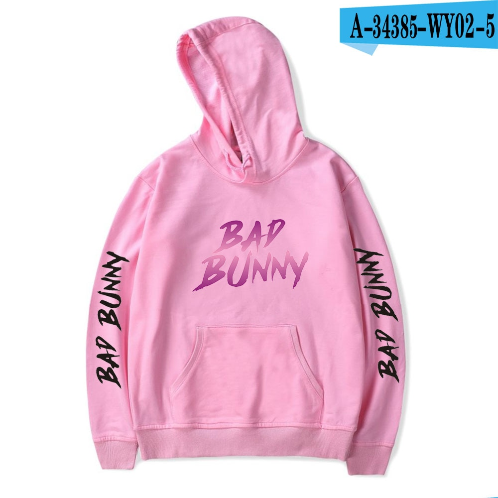 bad bunny glow in the dark printed hoodie bbm0108 4350 - Bad Bunny Store
