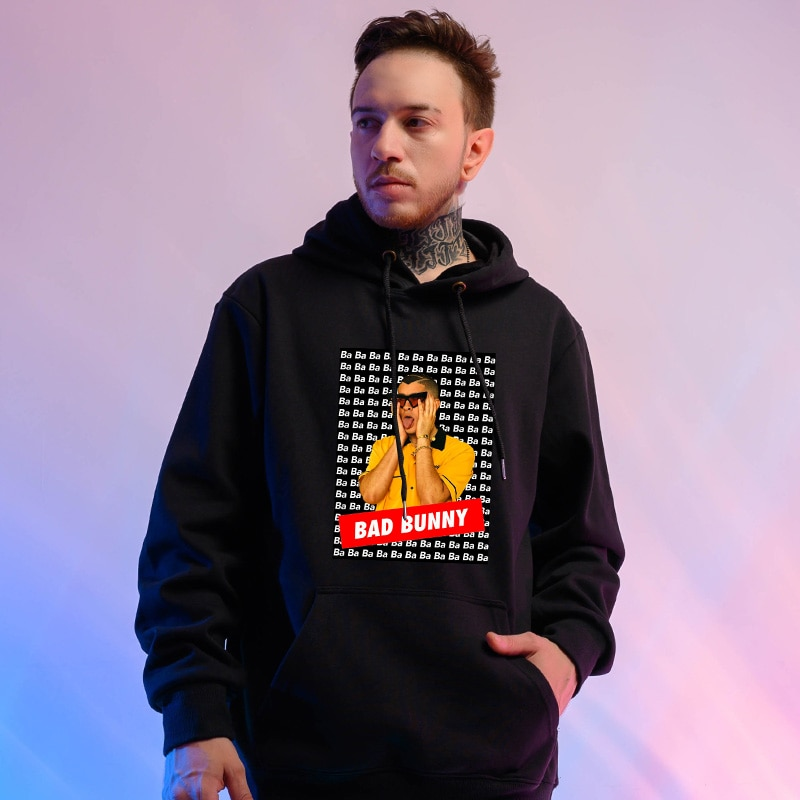 bad bunny oversized hoodie bbm0108 1201 - Bad Bunny Store