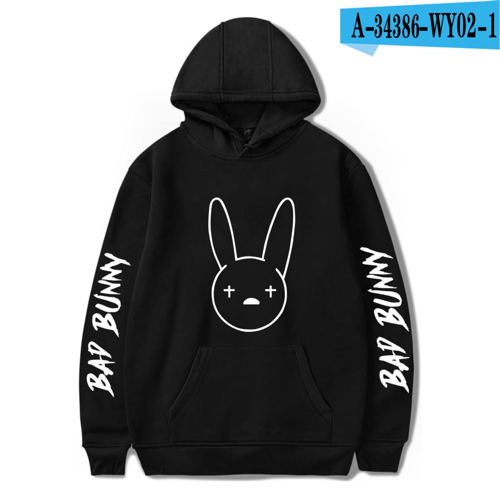 bad bunny pullover hooded sweatshirt bbm0108 2770 - Bad Bunny Store