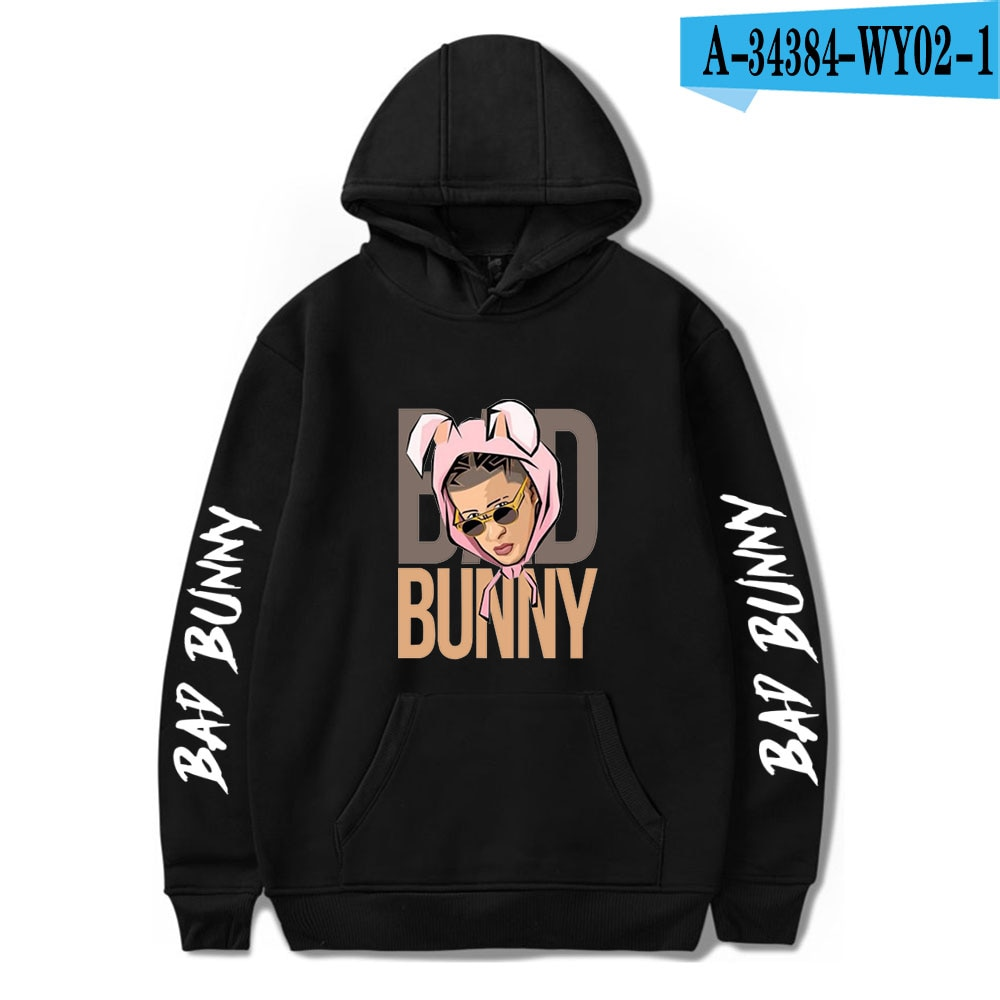 bad bunny pullover hooded sweatshirt bbm0108 4953 - Bad Bunny Store