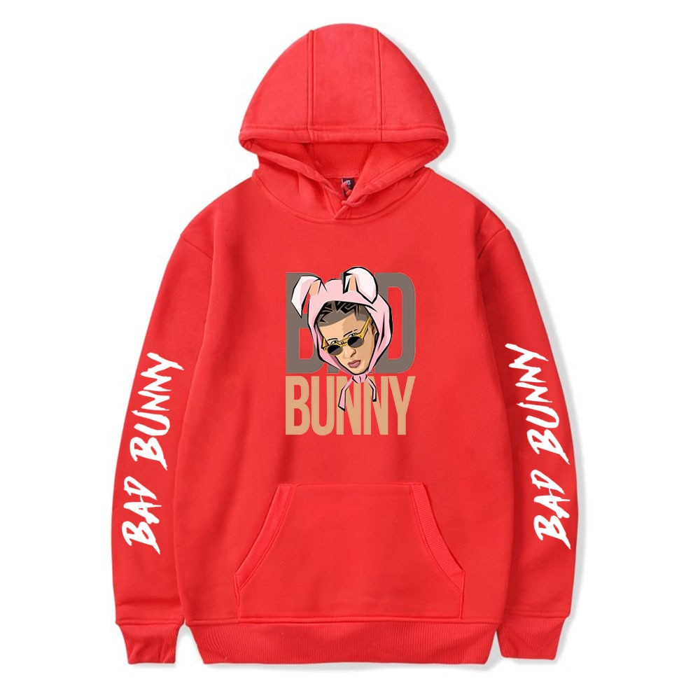 bad bunny pullover hooded sweatshirt bbm0108 6433 - Bad Bunny Store