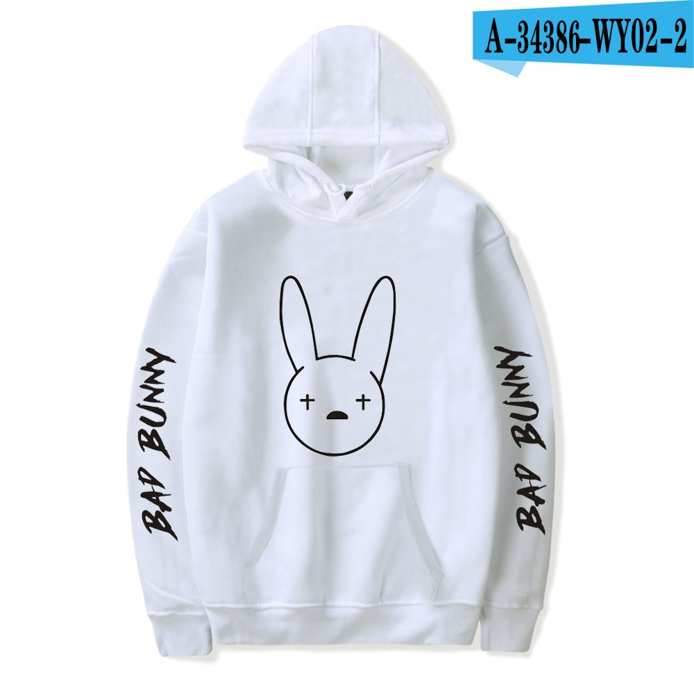bad bunny pullover hooded sweatshirt bbm0108 6662 - Bad Bunny Store