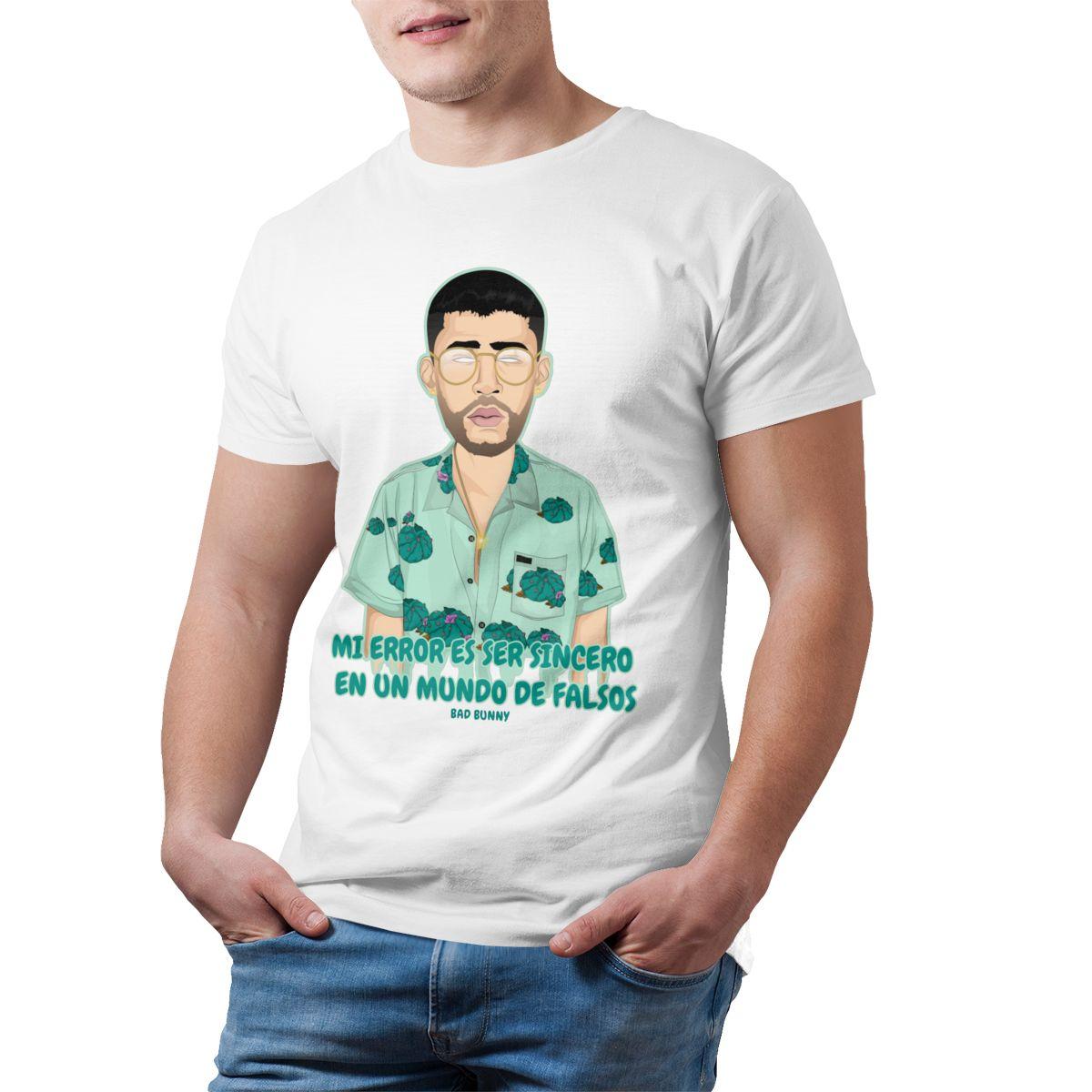 bad bunny short sleeve oversized t shirt bbm0108 2142 - Bad Bunny Store