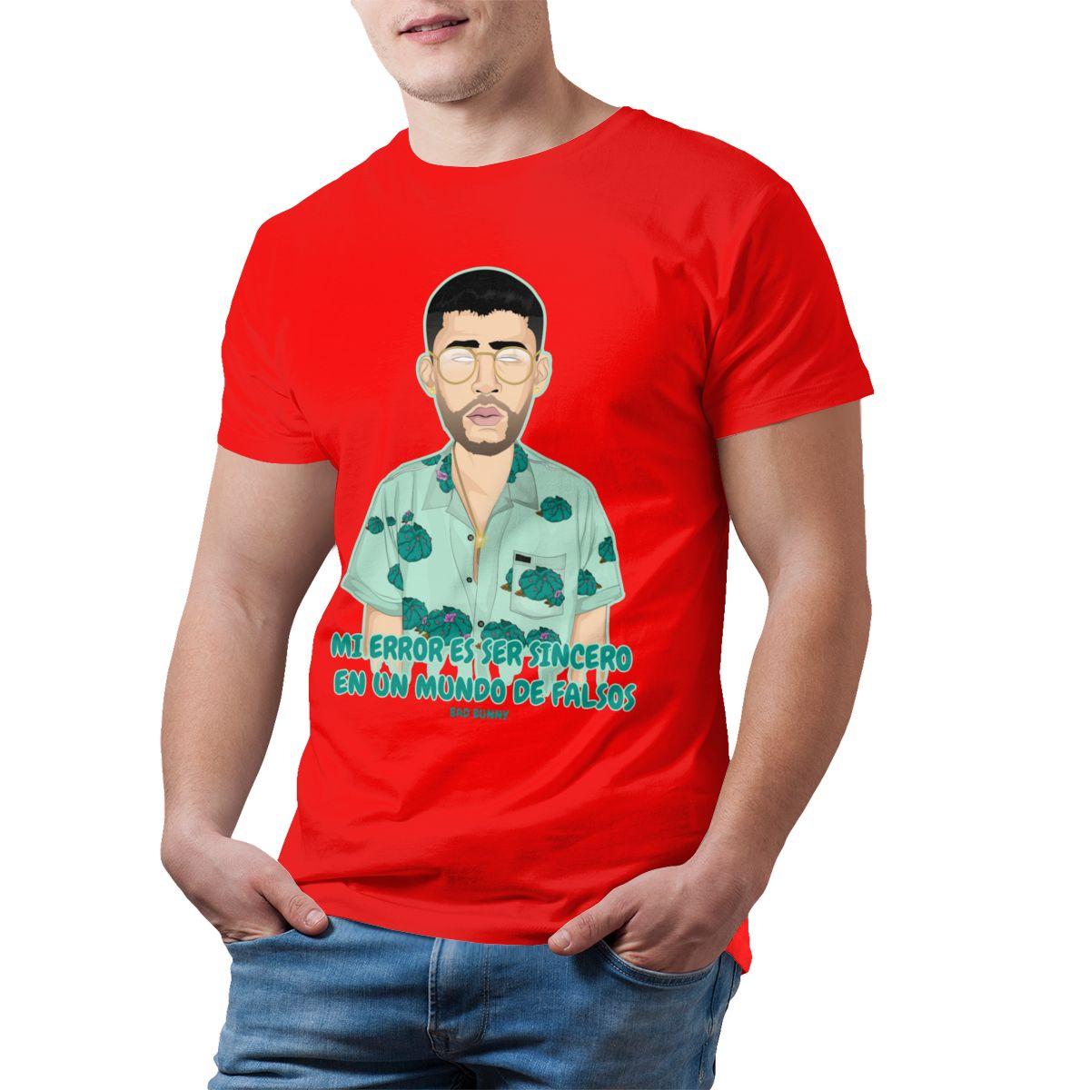 bad bunny short sleeve oversized t shirt bbm0108 3250 - Bad Bunny Store