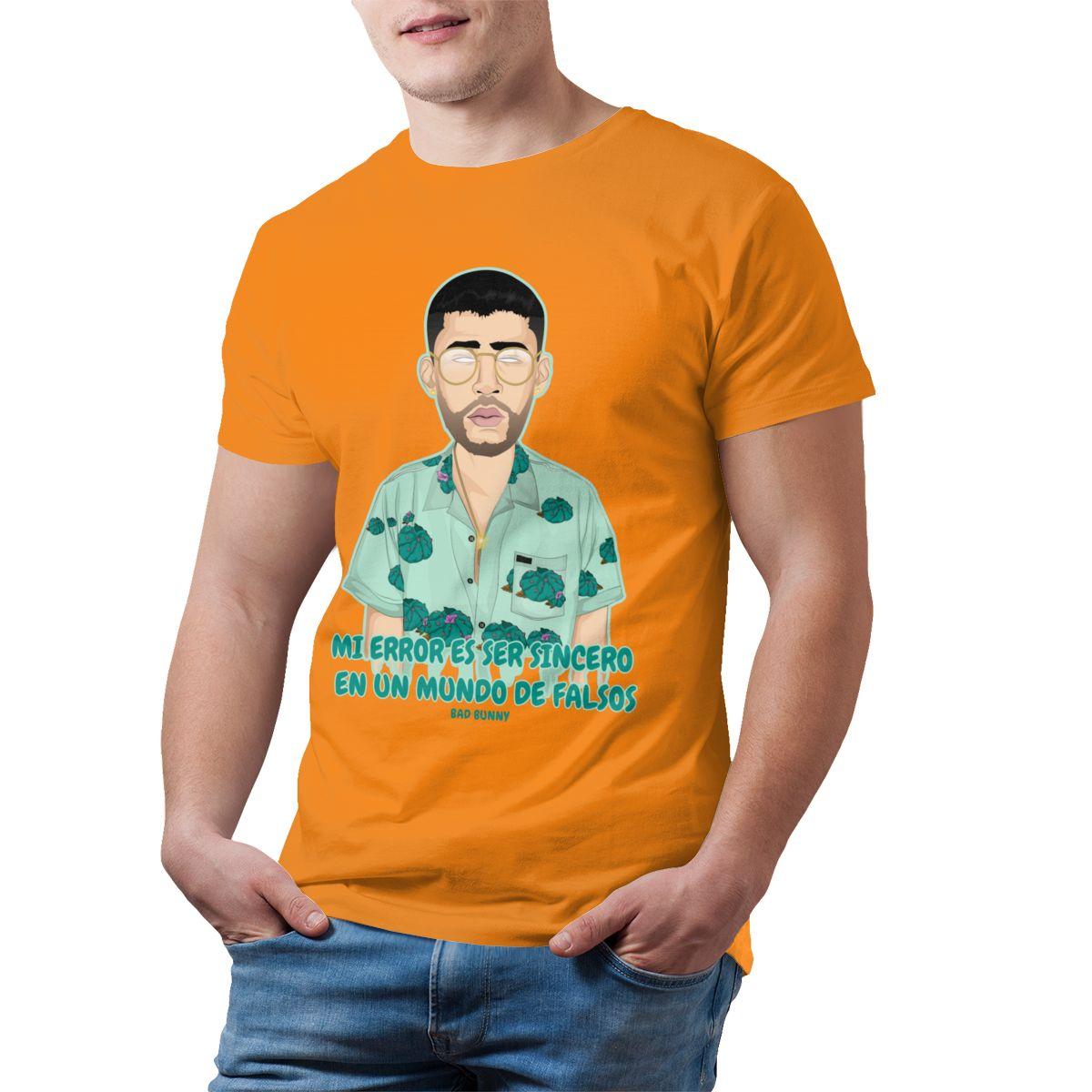 bad bunny short sleeve oversized t shirt bbm0108 5832 - Bad Bunny Store