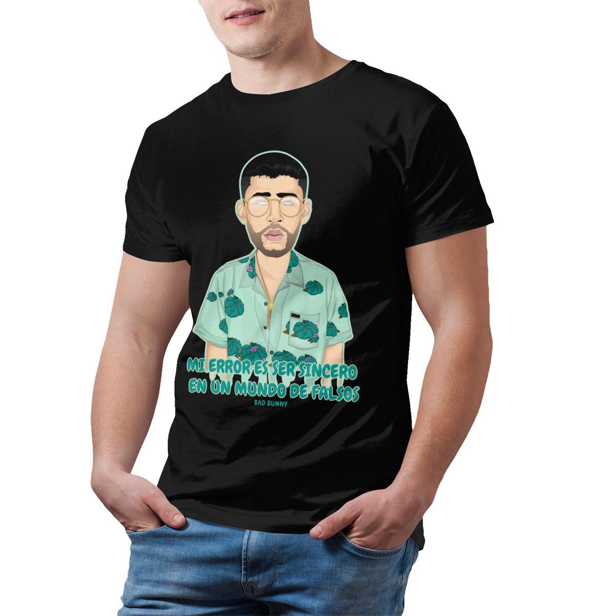 bad bunny short sleeve oversized t shirt bbm0108 6190 - Bad Bunny Store