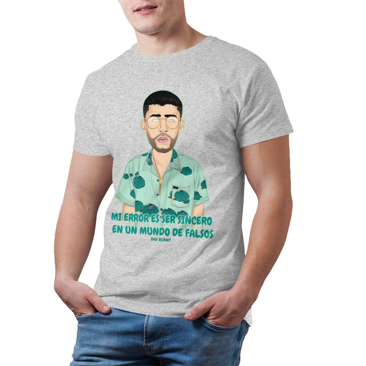 bad bunny short sleeve oversized t shirt bbm0108 6734 - Bad Bunny Store